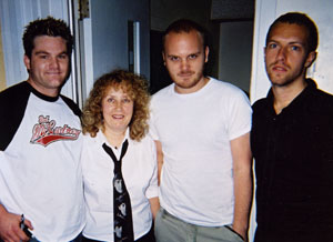 Helen with Coldplay