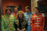 Helen with XPN Local artists celebrating the 40th Anniversary of Sgt. Pepper