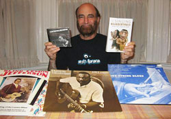 Jonny with some favorite albums and books