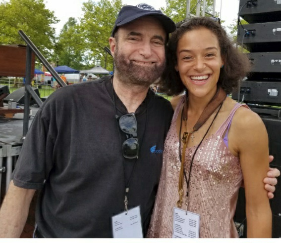 Jonny Meister with Vanessa Collier at the Riverfront Blues Festival 2018